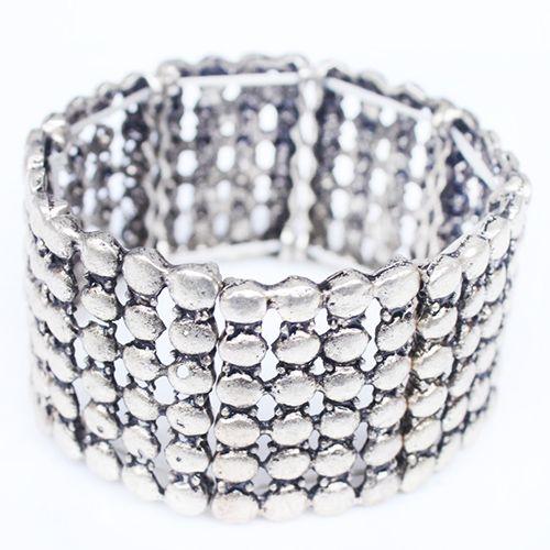 Multilayered Alloy Bracelet