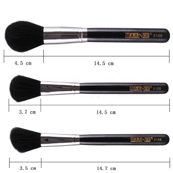 Stylish 5 Pcs Multifunction Nylon Face Makeup Brushes Set with Brush Package