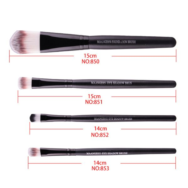 Stylish 21 Pcs Multifunction Nylon Face Eye Lip Makeup Brush Set and Sponge Blender