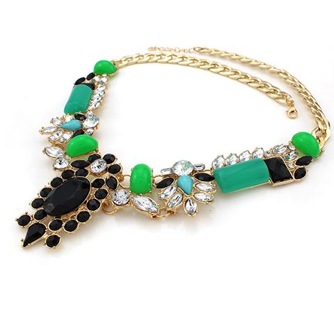Gorgeous Faux Jade Gemstone Necklace For Women