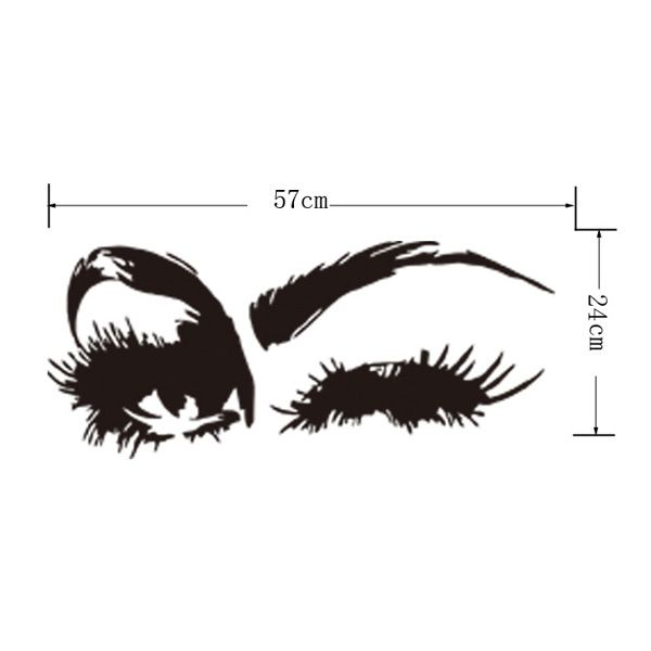 Creative Home Decoration Girl's Eyes Design Removable Wall Art Sticker