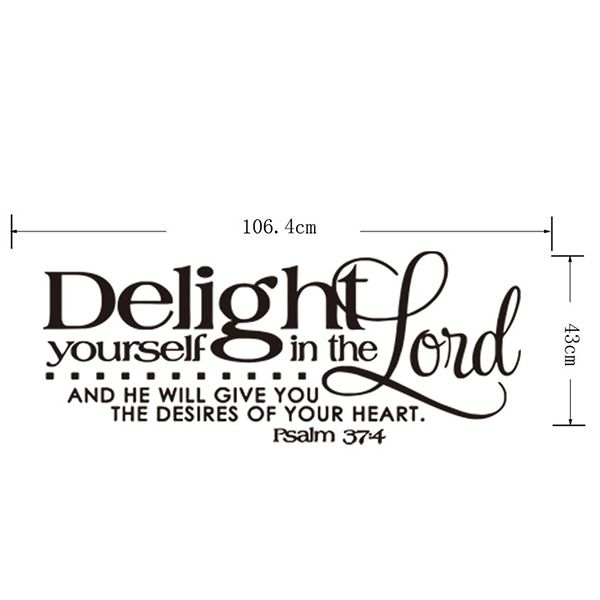 Novelty Home Decoration Bible Verse Design Removable Wall Art Sticker