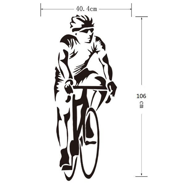 Fashion Home Decoration Bicycle Sportsman Design Wall Art Sticker