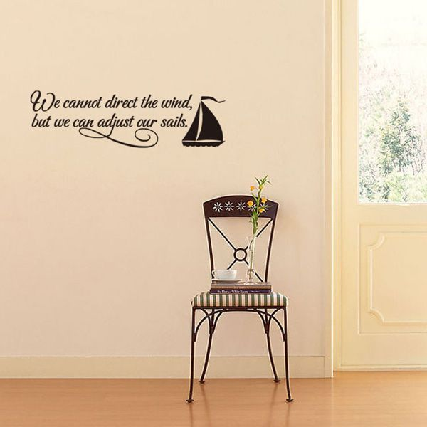 New Design Encouraging Proverbs Sailing Ship Decoration Wall Art Sticker
