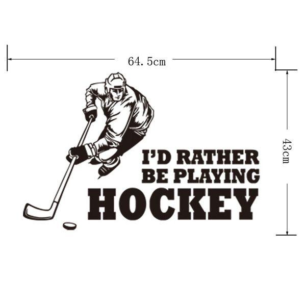 Creative Hockey Competition Sportsman Vinyl Decals Wall Art Sticker