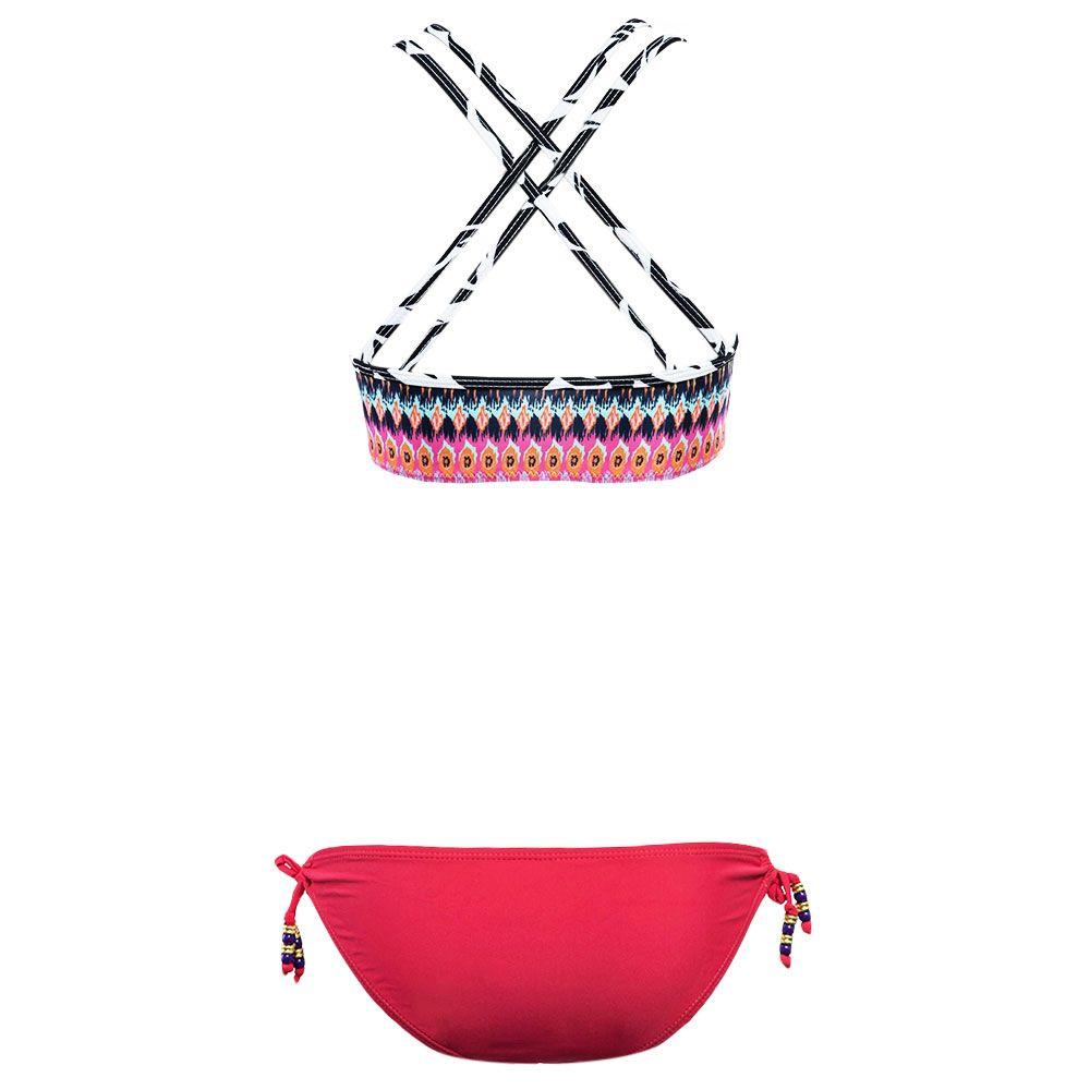 Stripe Colormix String Bikini Set