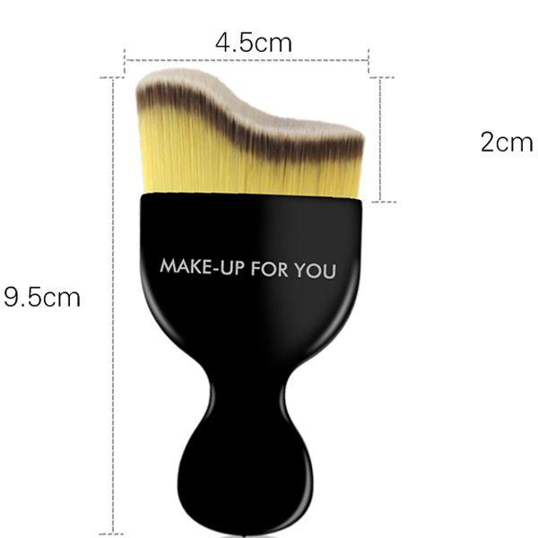 Stylish Curved Fiber Liquid Contour Foundation Brush