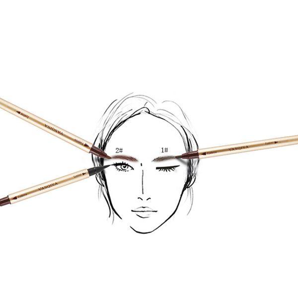 Stylish Double-End Smudge-Proof Waterproof Liquid Eyeliner Pencil Eyebrow Pencil