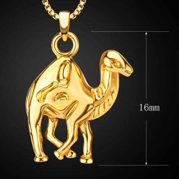 Vintage Camel Pendant Necklace