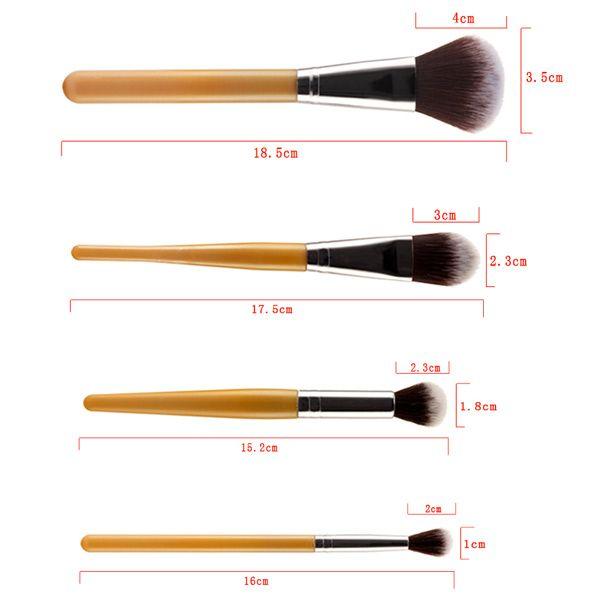 Stylish 9 Pcs Nylon Face Eye Lip Makeup Brushes Set