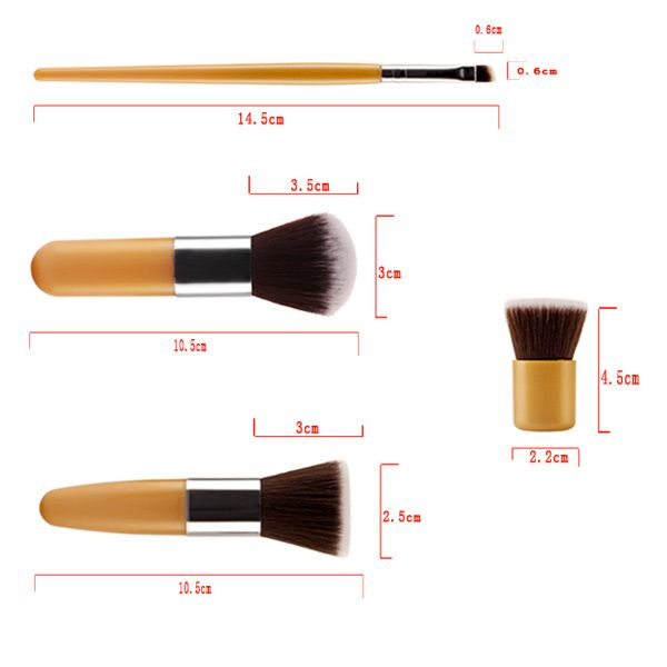 Stylish 11 Pcs Soft Nylon Face Eye Lip Makeup Brushes Set