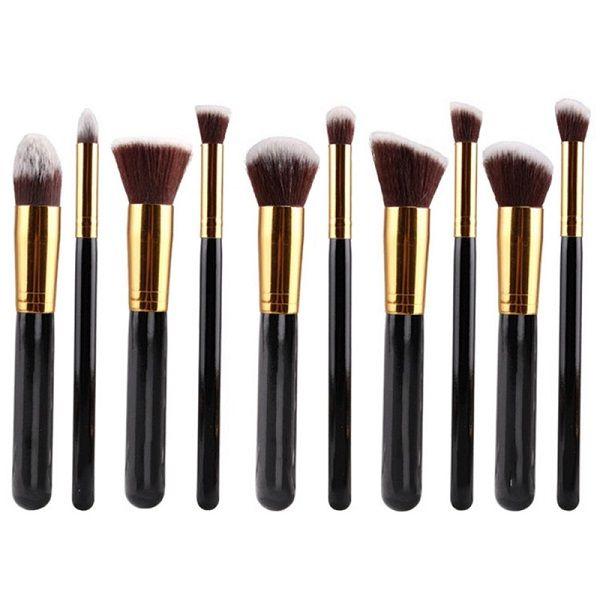 Stylish 10 Pcs Multifunction Soft Fiber Face Eye Makeup Brushes Set