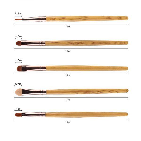 Stylish 20 Pcs Wood Grain Handle Nylon Face Eye Lip Makeup Brushes Set