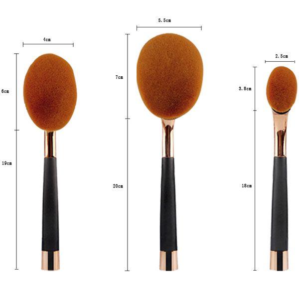 Stylish 9 Pcs Multifunction Golf Clubs Shape Nylon Makeup Brushes Set