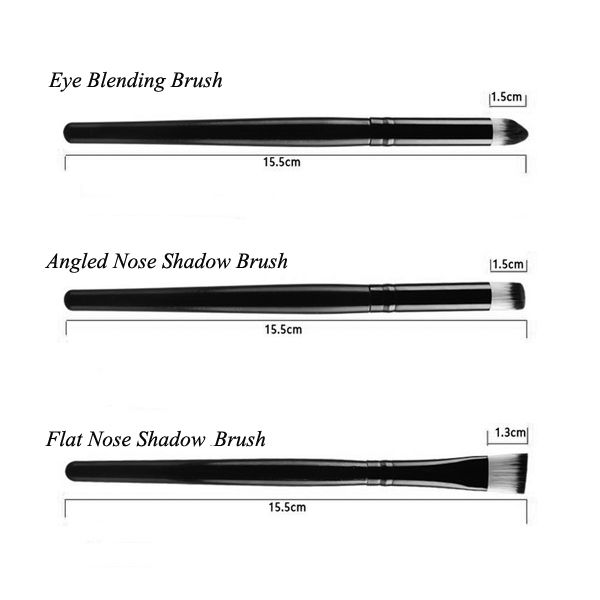 Stylish 6 Pcs Eye Makeup Brushes Set + Blush Brush + Foundation Brush + Brush Egg + Makeup Sponge