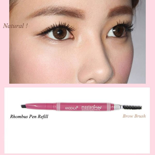 Stylish Double-End Waterproof Rotary Automatic Eyebrow Pencil with Brush