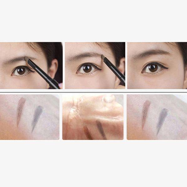 Stylish Double-End Waterproof Liquid Eyeliner Rotary Automatic Eyebrow Pencil