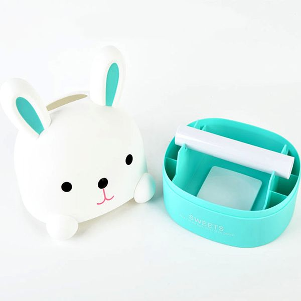 Cute Rabbit Removable Paper Napkin Home Decorated Cartoon Tissue Box