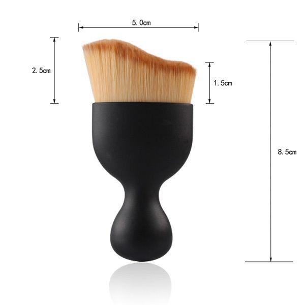 3 Pcs/Set Wave Shape Blush Brush + Bevel Cut Makeup Sponge + Makeup Sponge