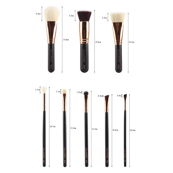 8 Pcs Nylon Facial Eye Lip Makeup Brushes Set