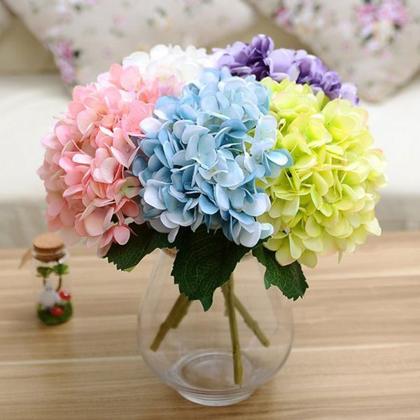 A Bouquet of Wedding Party Hydrangea Artificial Flower