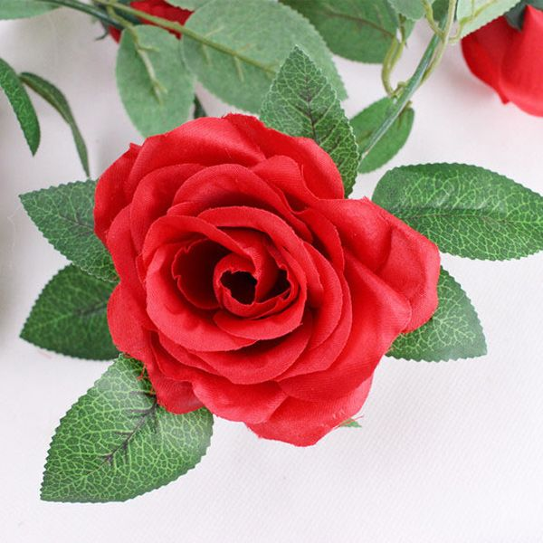 Wall Decor 16 Heads Fake Rose Rattan Artificial Flower