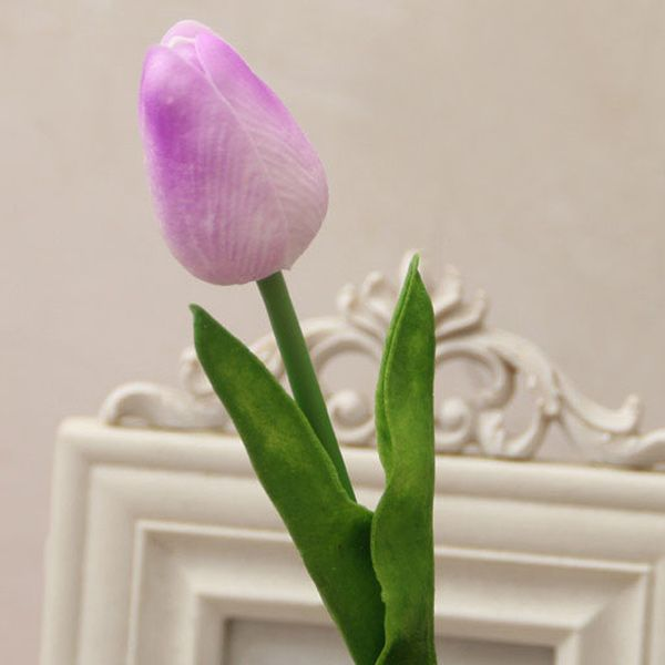 PU Real Touch Tulip Bouquet Home Decor Artificial Flowers