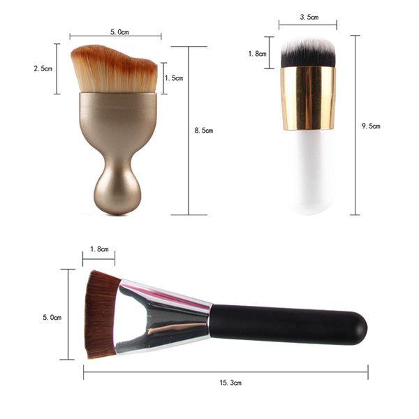 MAANGE5152 20 Pcs Makeup Brushes Set + 8 Pcs Beauty Blenders + S-Shape Blush Brush + Foundation Brush + Contour Brush