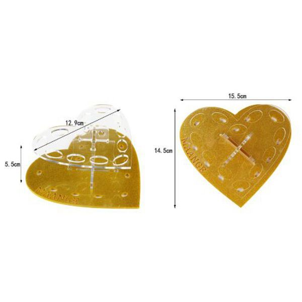 Heart Shape Brush Holder Brush Stand