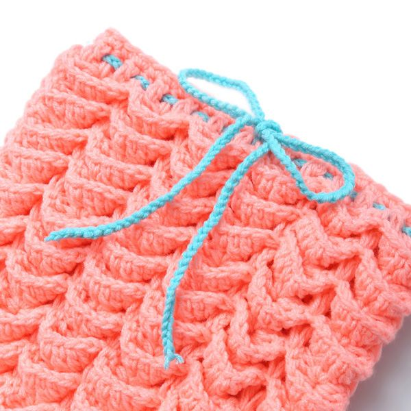 Baby Photography Prop Crochet Three-Piece Mermaid Blanket