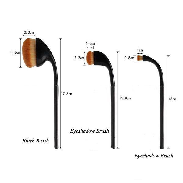 9 Pcs Golf Clubs Shape Makeup Brushes Set