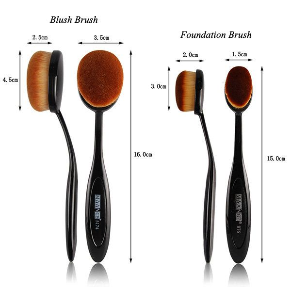 2 Pcs/Set Blush Brush + Foundation Brush