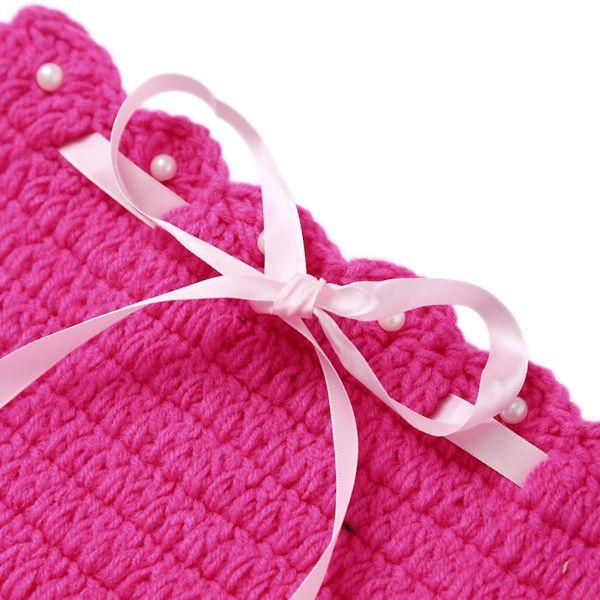 3PCS Baby Photography Prop Crochet Mermaid Blanket Suits