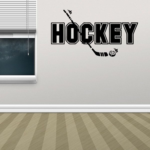 Removable Waterproof HOCKEY Word Wall Stickers