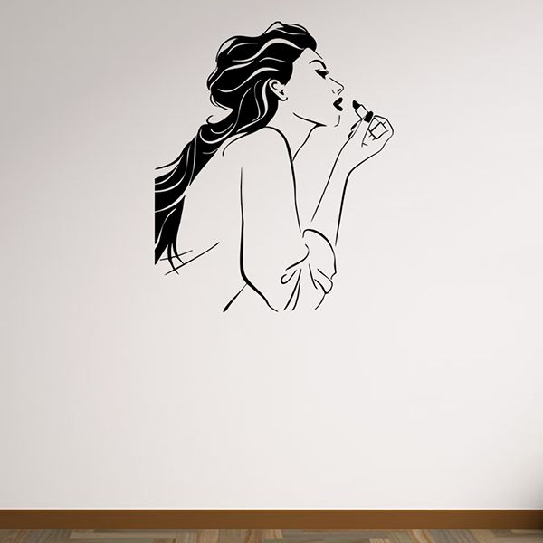 Removable Waterproof Belle Carved Art Wall Stickers