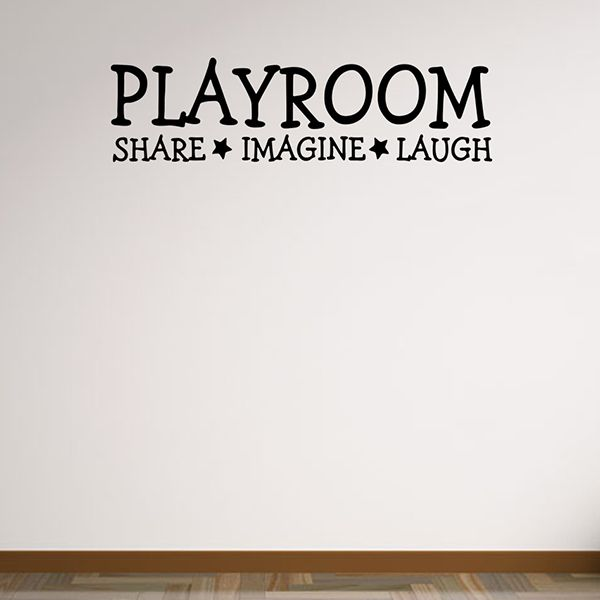 Removable Waterproof Playroom Wall Stickers