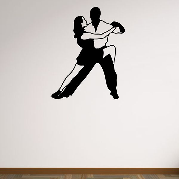 Removable Waterproof Dance Carved Art Wall Stickers
