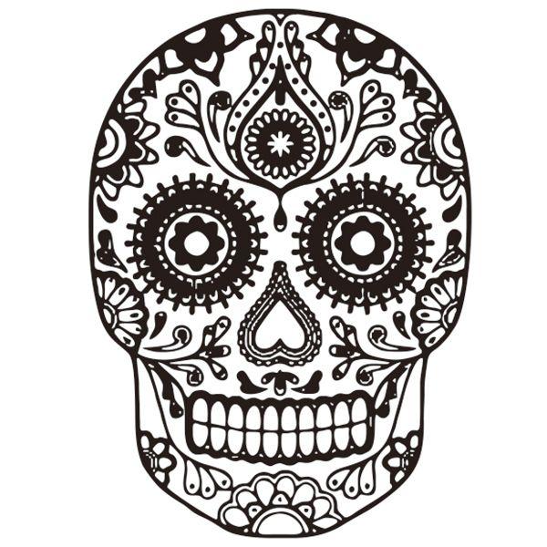 Removable Waterproof Halloween Skull Art Vinyl Wall Stickers Custom