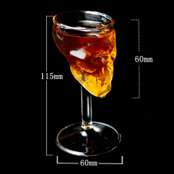 Novelty Skull Design Borosilicate Transparent Wine Glass