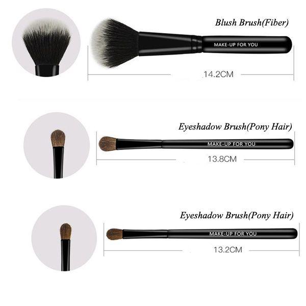 7 Pcs Pony Hair Makeup Brushes Set with Brush Bag