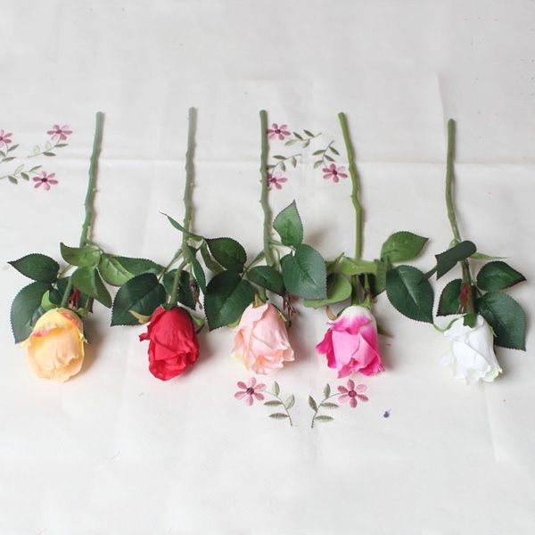 4PCS Real Touch Rose Bridal Artificial Flower