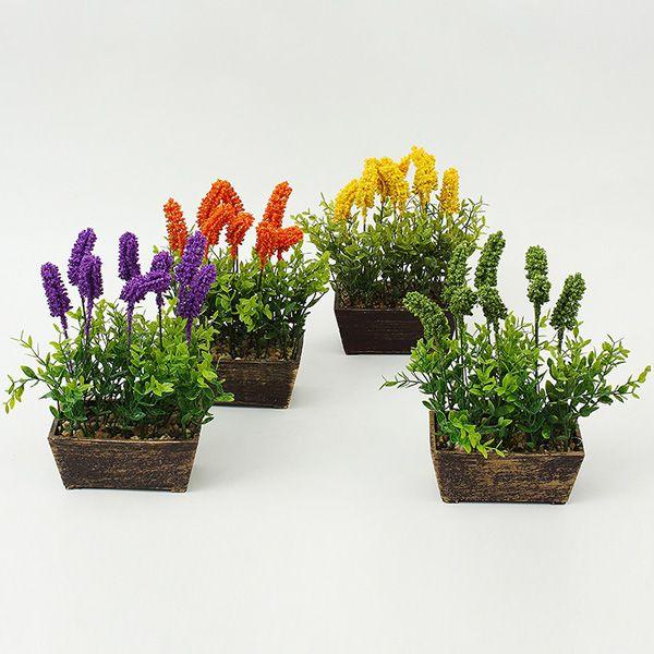 Lavender Potted Bonsai Decoration Artificial Flower