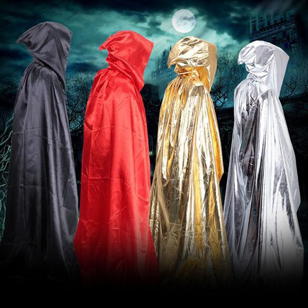Halloween Party Supply Cosplay Death Hooded Cloak Costume