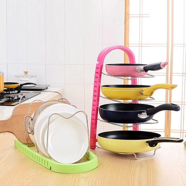Kitchen Multilayer Dish Pot Storage Rack