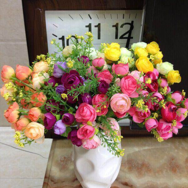 1 Bouquet Home Decor Wedding Bride Artificial Flower Bud
