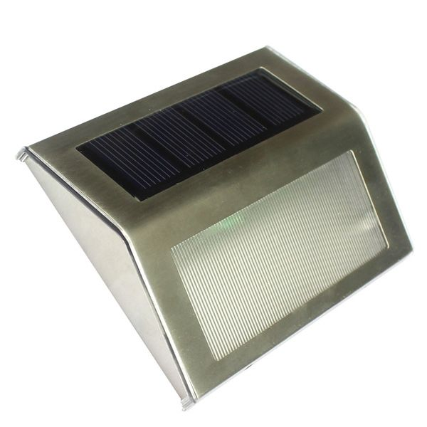 3 LED Solar Garden Lights Outdoor Decorative Waterproof Courtyard Wall Lamp