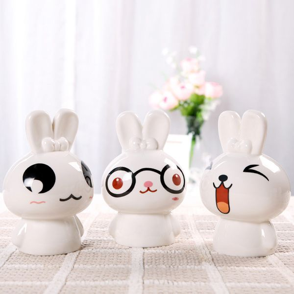 Essential Oil Drive Midge Purify Air Cartoon Ceramic BeiBei Rabbit Night Light