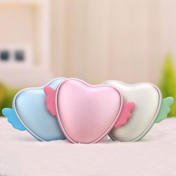 3500mAh Love Heart Shape Hand Warmer USB Mobile Power