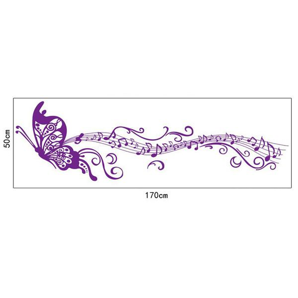 Artistic Butterfly Musical Note Room Decor Wall Stickers