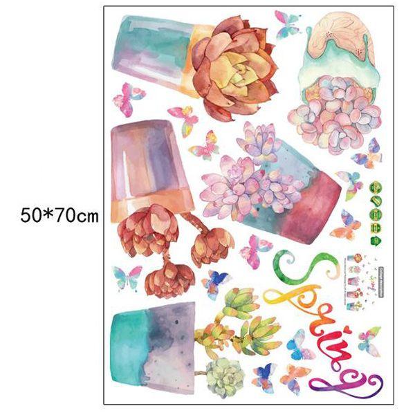 Vinyl Floral Bonsai Decorative Wall Art Sticker